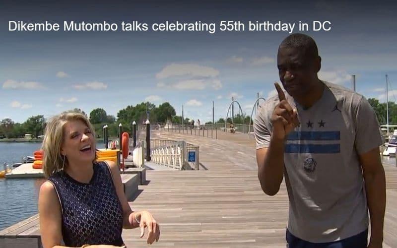 Dikembe Mutombo talks celebrating 55th Birthday in DC